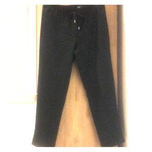 Work casual wool blend pants